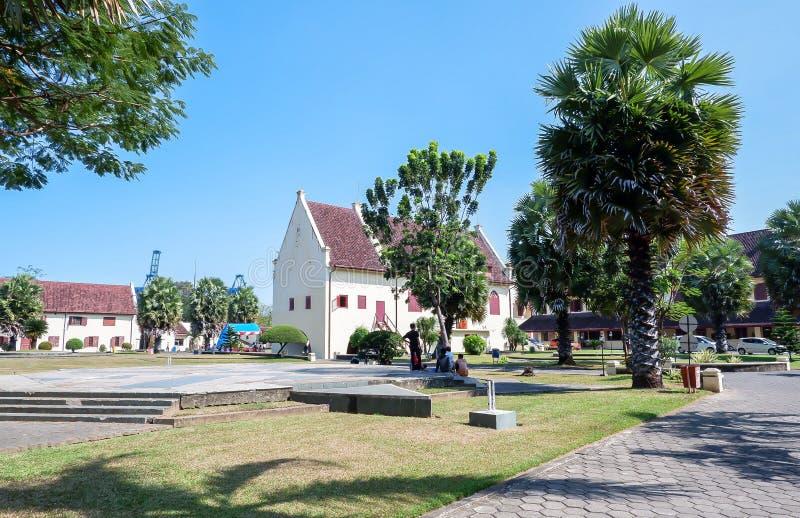 Het Museum van fortrotterdam in de stad van Makassar, Sulawesi royalty-vrije stock afbeeldingen