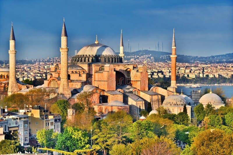 Het museum & x28 van Hagiasophia; Ayasofya Muzesi& x29; in Istanboel, Turkije stock foto's
