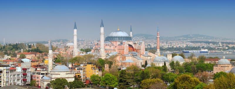 Het museum van Hagiasophia in Istanboel, Turkije stock foto's