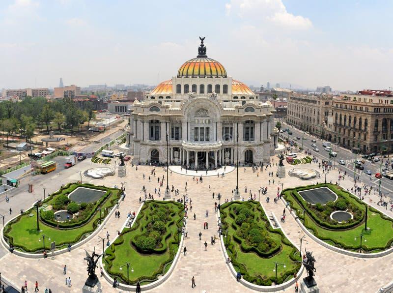 Het Museum van het Beeldende kunstenpaleis in Mexico-City, Mexico stock foto
