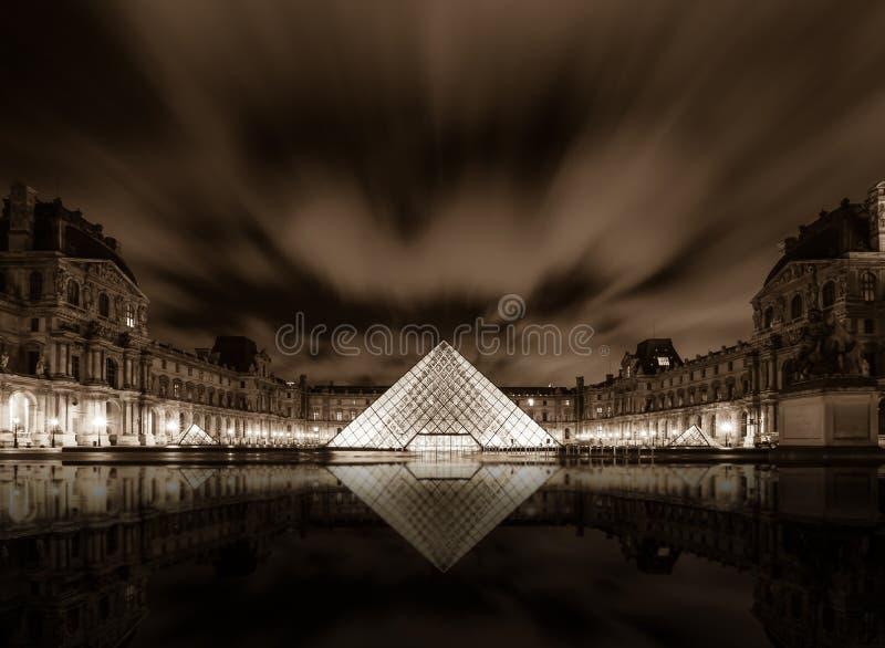 Het Museum van het Louvre in Parijs, Frankrijk stock foto