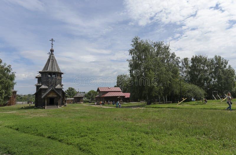 Het Museum van Houten Architectuur, Suzdal royalty-vrije stock foto