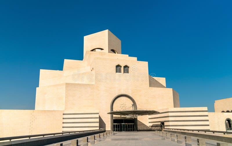 Het museum van Islamitische Kunst in Doha, Qatar stock foto's