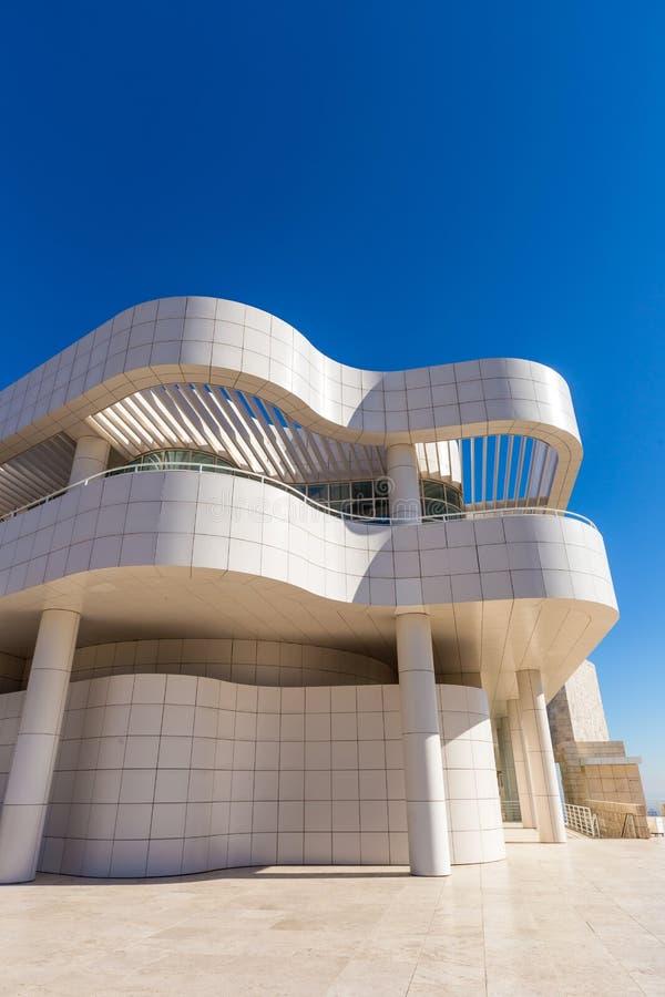 Het museum van J Paul Getty Museum in Los Angeles stock fotografie