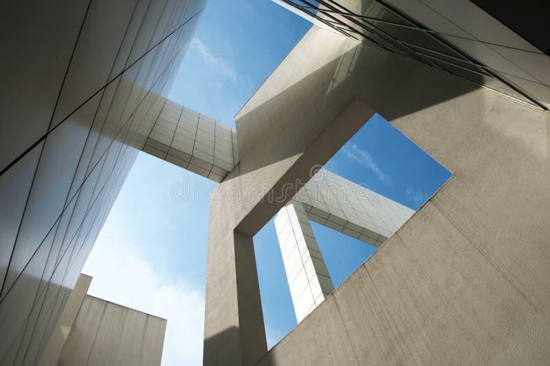 Het museum van Macba - Barcelona stock foto's