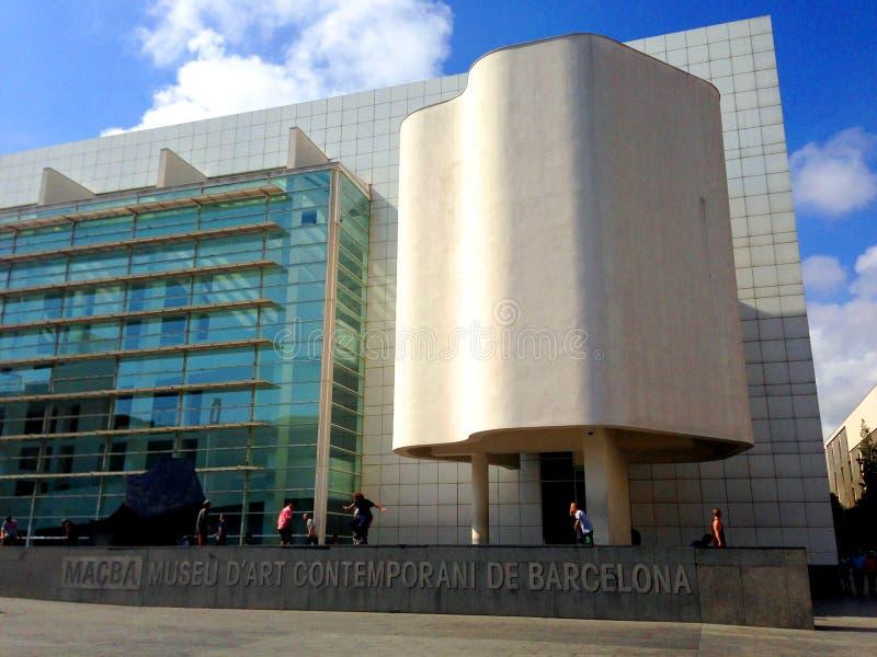 Het museum van Macba - Barcelona stock afbeelding