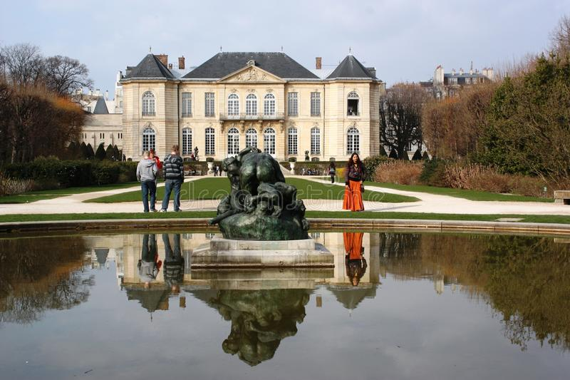 Het Museum van Rodin in Parijs Frankrijk stock afbeelding