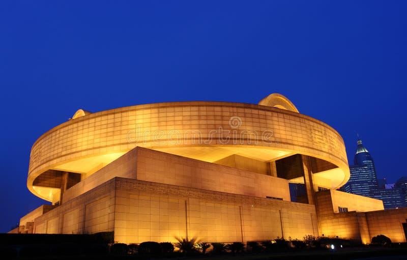 Het museum van Shanghai stock afbeeldingen