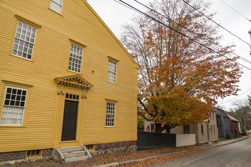 Het Museum van Strawberybanke in Portsmouth, New Hampshire, de V.S. stock foto
