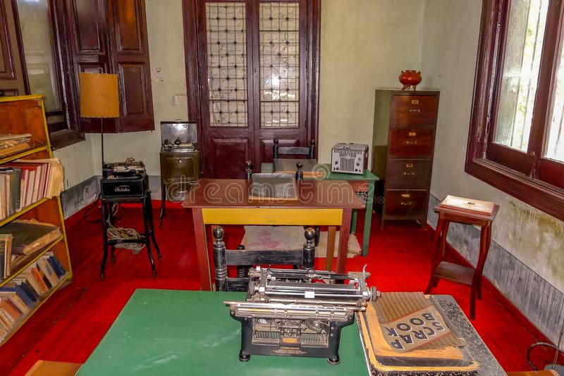 Het Museum van het Trotskyhuis in Mexico-City stock foto's
