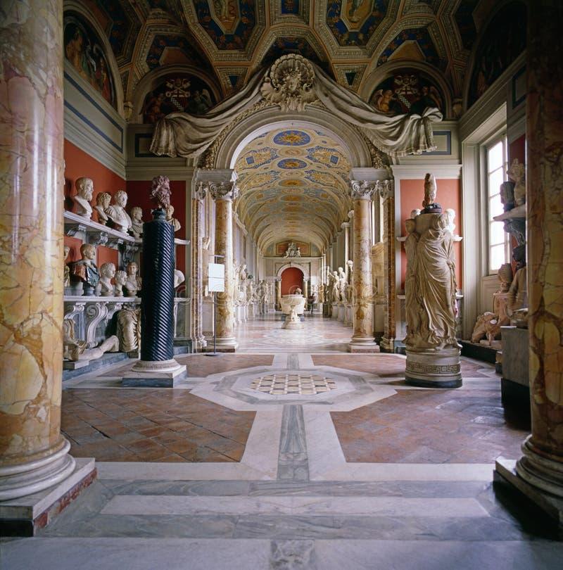 Het Museum van Vatikaan, Rome stock afbeelding