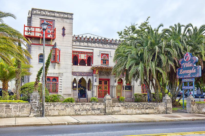Het Museum van villazorayda in St Augustine royalty-vrije stock afbeeldingen
