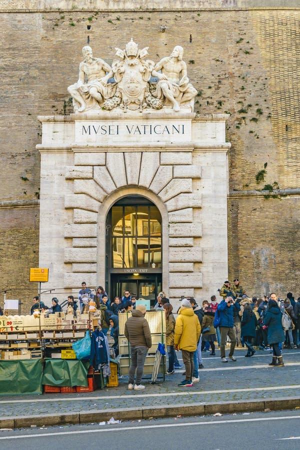 Het Museumingang van Vatikaan, Rome, Italië royalty-vrije stock afbeelding