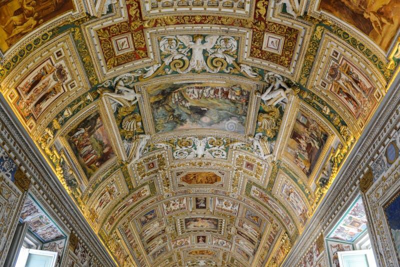 Het Museumplafond van Vatikaan royalty-vrije stock foto's