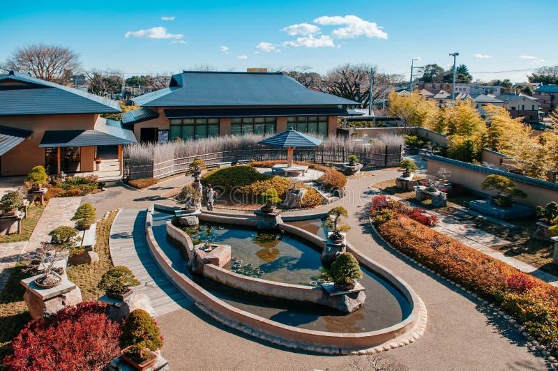 Het Museumtuin van de Omiyabonsai, Saitama, Japan stock foto's