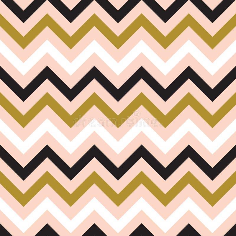 Het naadloze abstracte patroon van de zigzaglijn stock illustratie