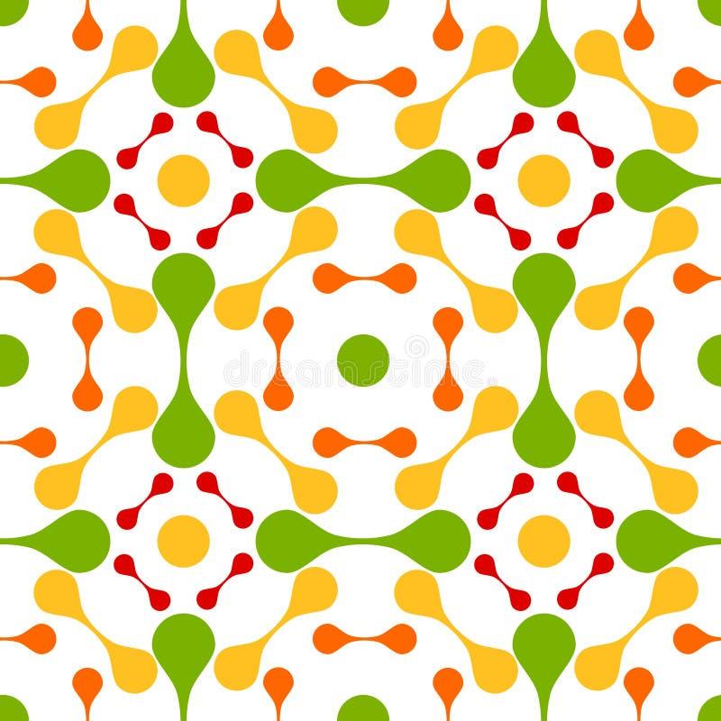 Het naadloze abstracte patroon van lavadalingen vector illustratie