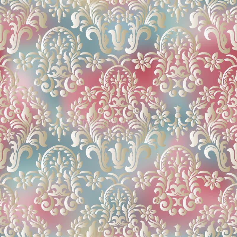 Het naadloze Behang van het Damast barok naadloos Vector illustratie royalty-vrije illustratie