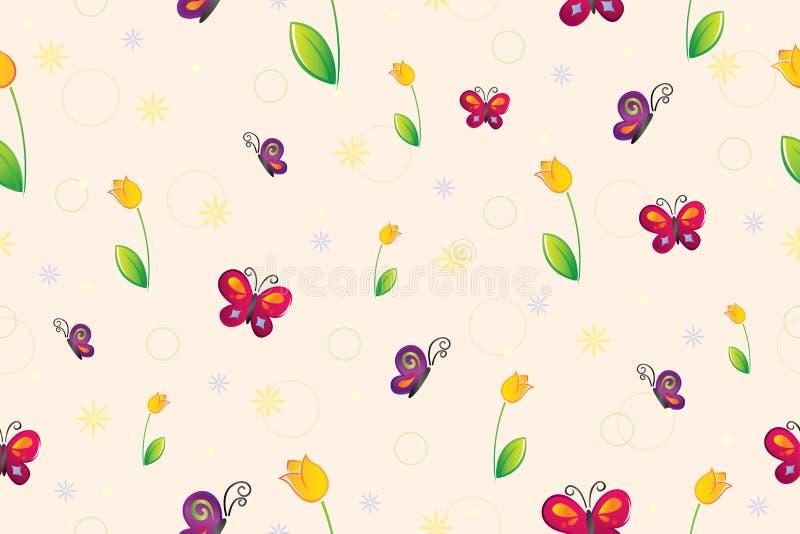 Het naadloze behang van de lente stock illustratie
