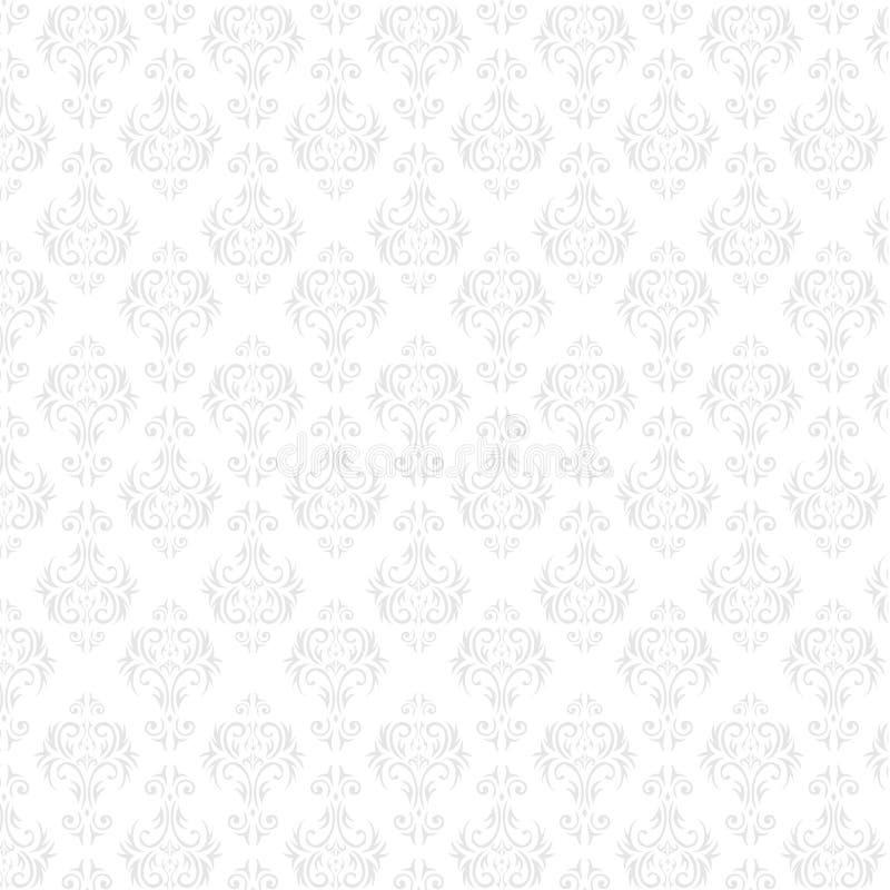 Het naadloze behang van het Damast royalty-vrije illustratie