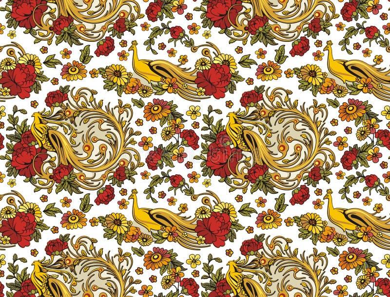 Het naadloze Behang van het Ornament royalty-vrije illustratie