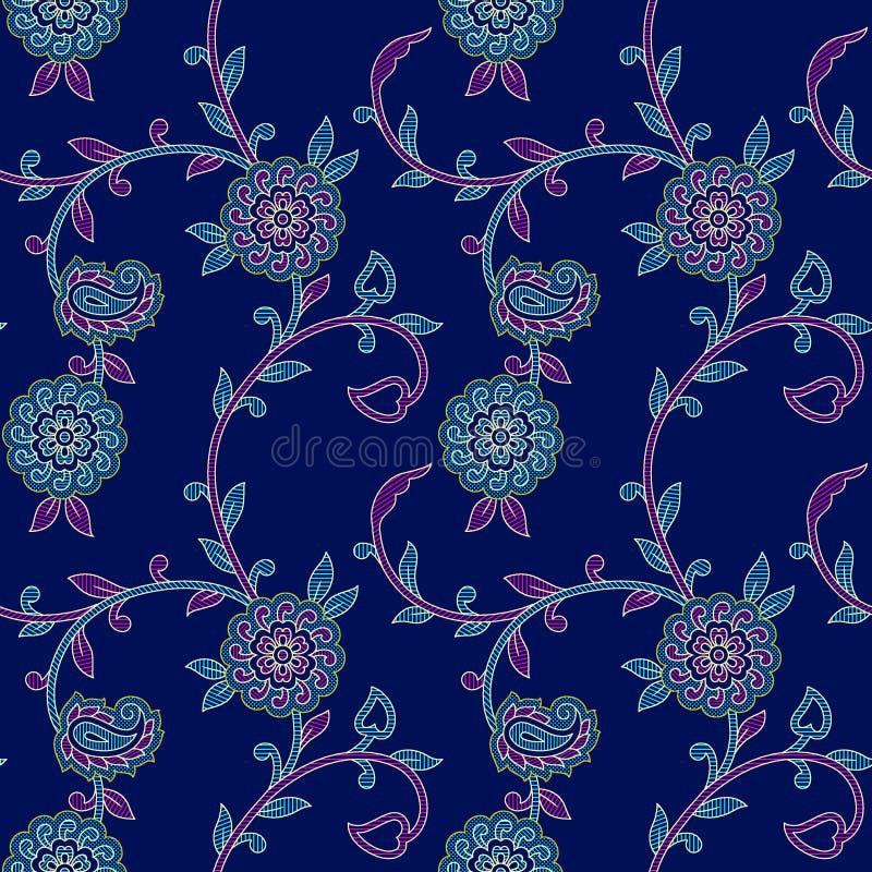 Het naadloze bloemen kleurrijke patroon van Paisley royalty-vrije illustratie