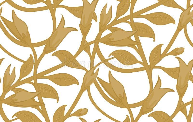 Het naadloze BloemenPatroon van het Behang stock foto