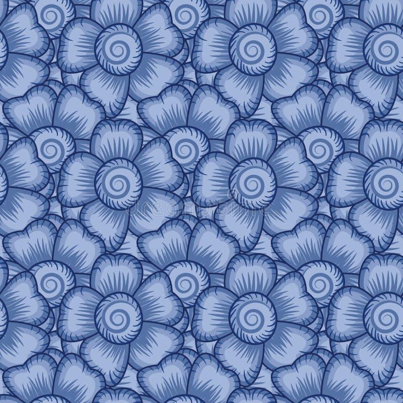 Het naadloze Bloemrijke Patroon van het Behang stock illustratie