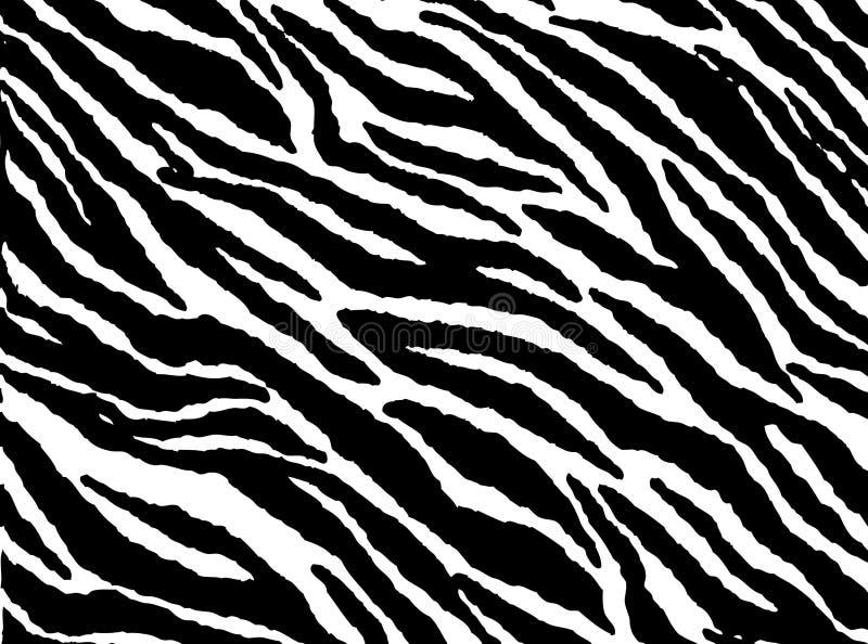 Het naadloze bont van het zebraskinpatroon stock illustratie
