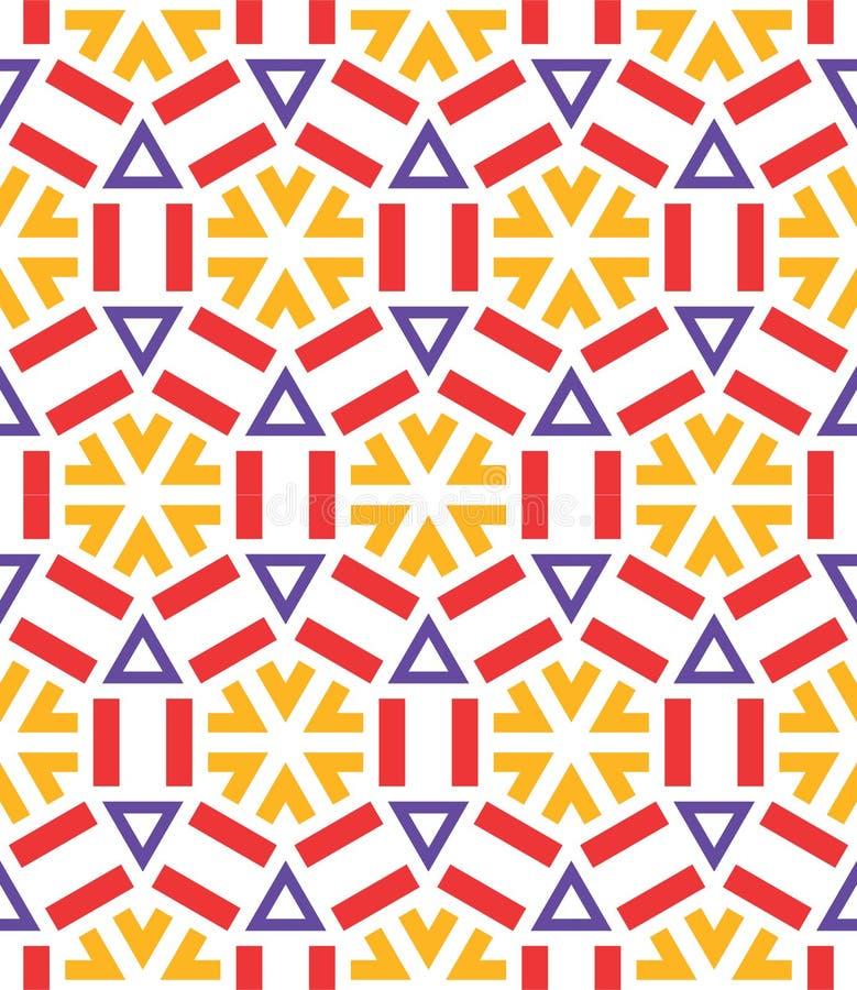 Het naadloze ceramische patroon van de de wintersneeuwvlok stock illustratie