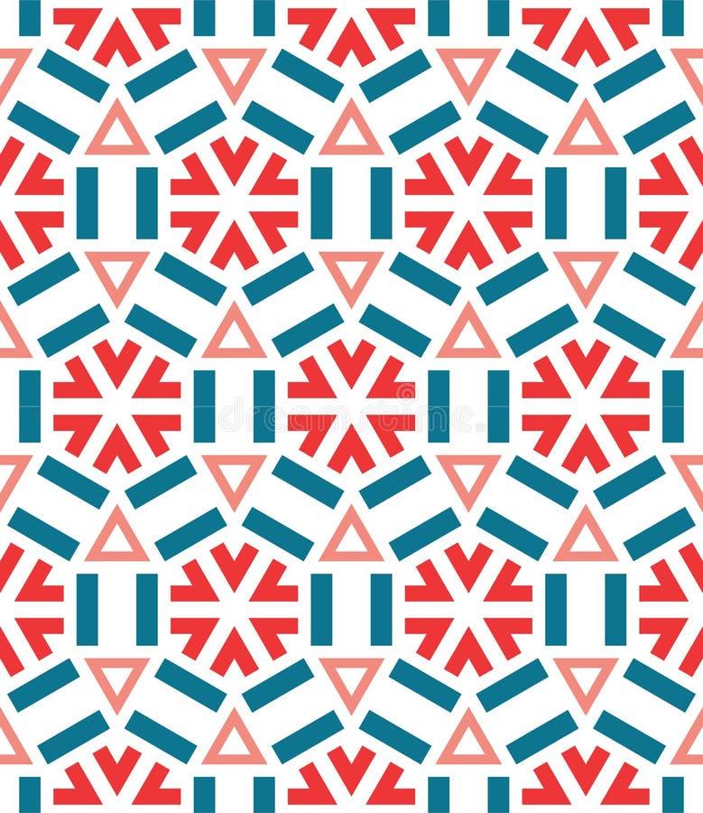 Het naadloze ceramische patroon van de de wintersneeuwvlok vector illustratie
