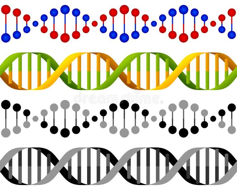 Het naadloze Concept van de Bundels van DNA stock illustratie