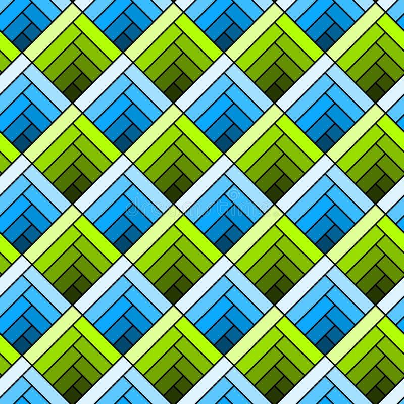 Het naadloze diagonale patroon van de vierkantentegel royalty-vrije illustratie