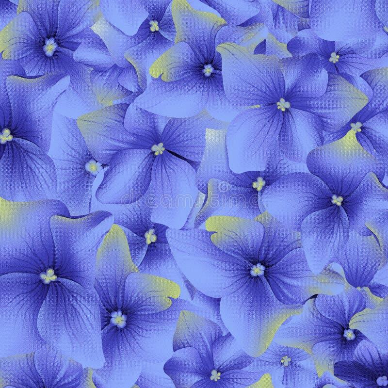 Het naadloze digitale patroon van de achtergrondwaterverfbloem royalty-vrije illustratie