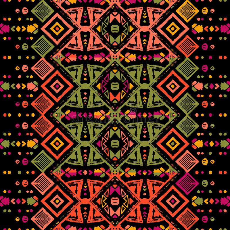 Het naadloze etnische naadloze patroon van de zigzagchevron Vector illustratie vector illustratie