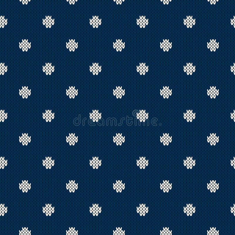Het Naadloze Gebreide Patroon van de de wintervakantie Noords Sweaterontwerp stock illustratie