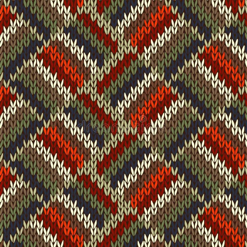Het Naadloze Gebreide Patroon van de stijl stock illustratie