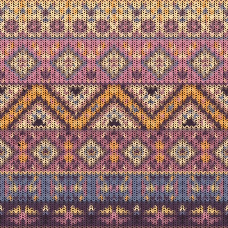 Het naadloze gebreide patroon van Navajo vector illustratie