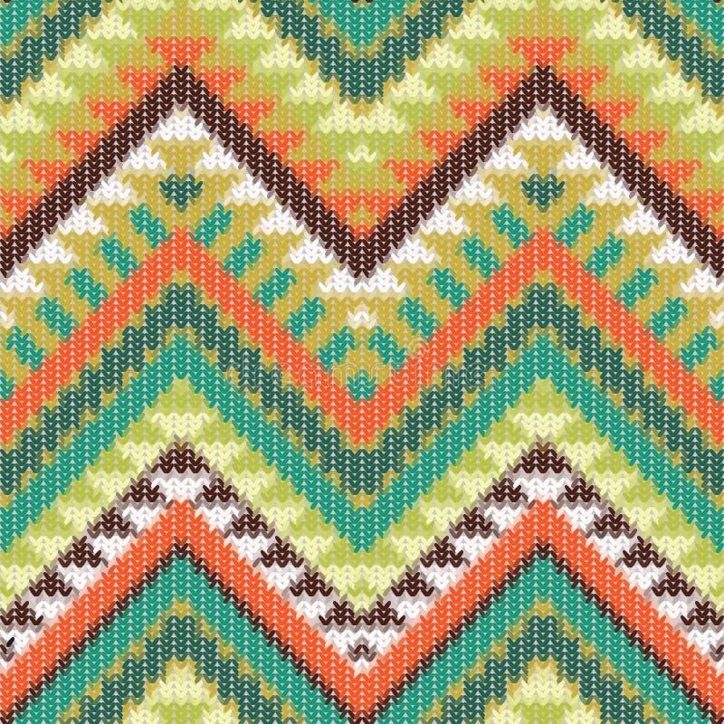 Het naadloze gebreide patroon van Navajo royalty-vrije illustratie