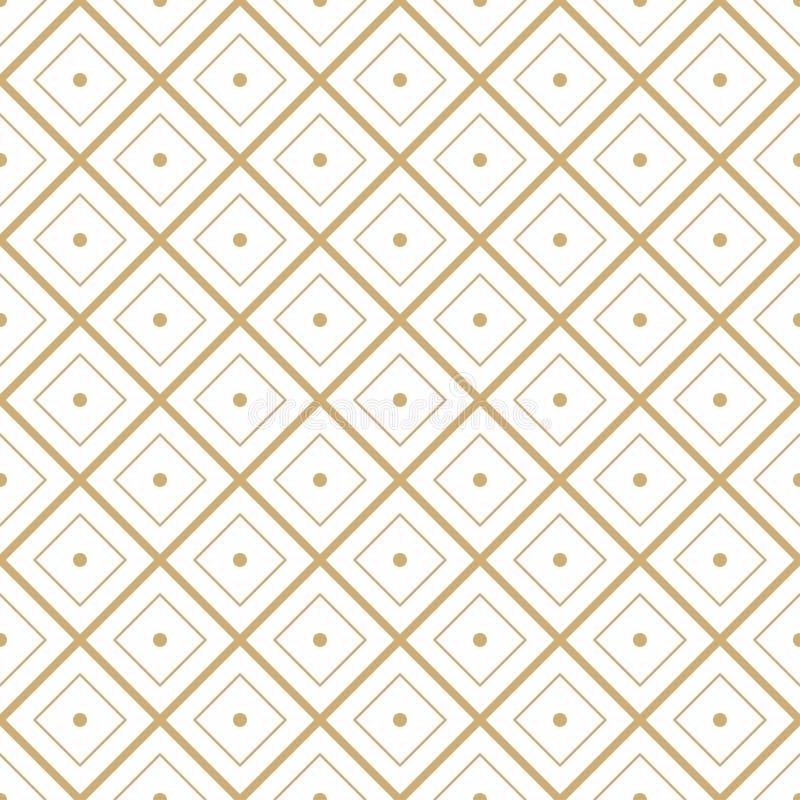 Het naadloze geometrische minimale grafische vectorpatroon van de diamanttegel royalty-vrije illustratie