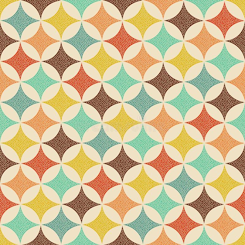 Het naadloze geometrische patroon van de puntentextuur stock illustratie