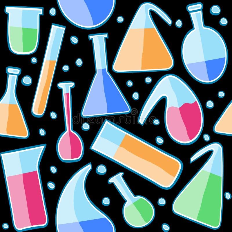 Het naadloze glas van het patroonlaboratorium stock illustratie