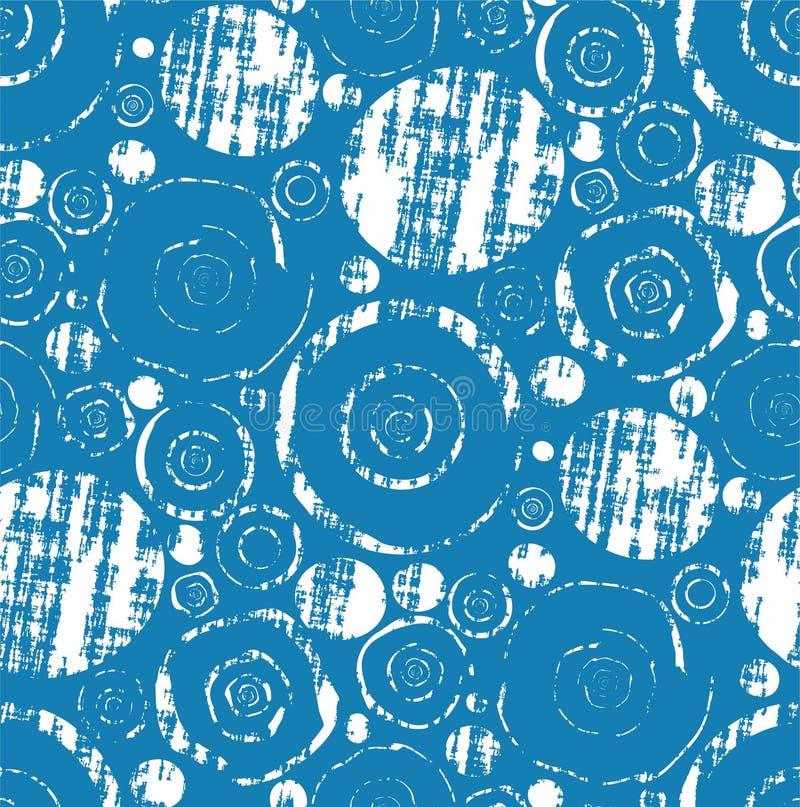 Het naadloze Grungy Patroon van het Behang royalty-vrije illustratie