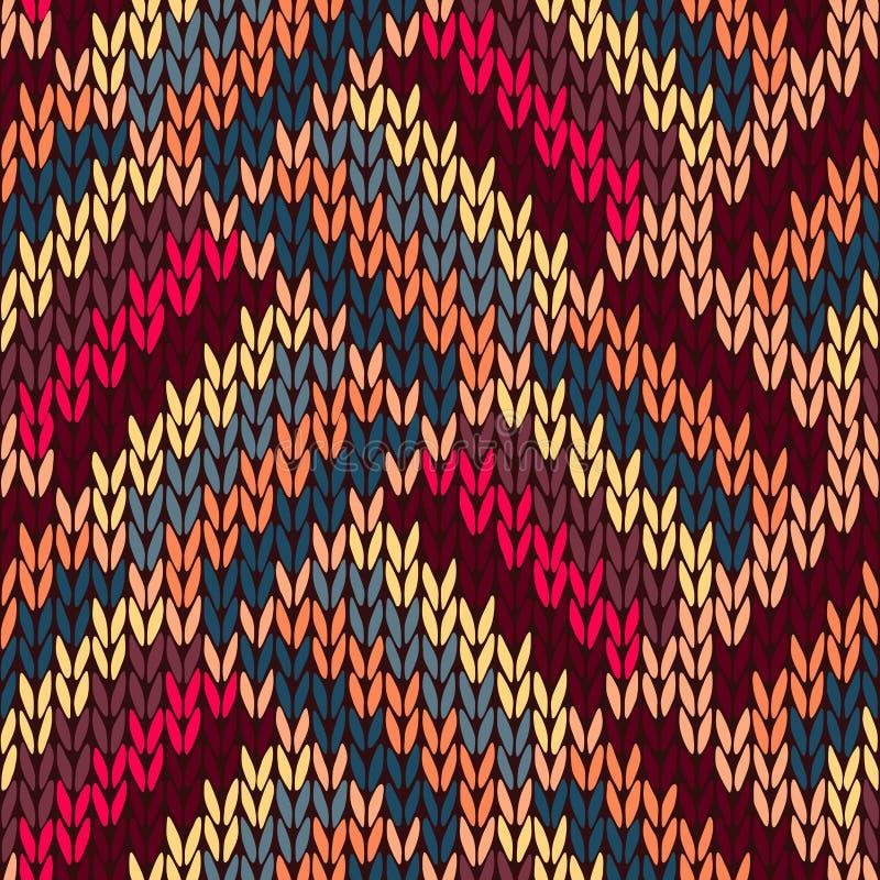 Het Naadloze Kleur Gebreide Patroon van de stijl royalty-vrije illustratie