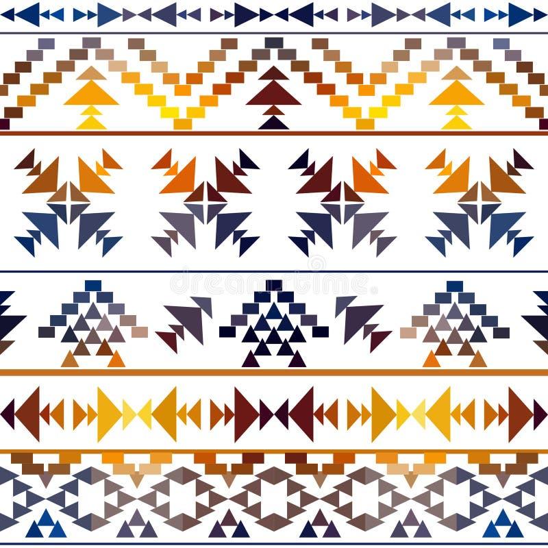 Het naadloze kleurrijke patroon van Navajo vector illustratie