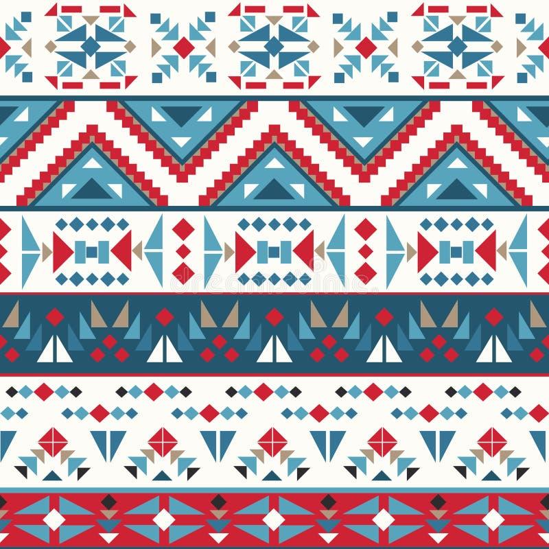 Het naadloze kleurrijke patroon van Navajo royalty-vrije illustratie