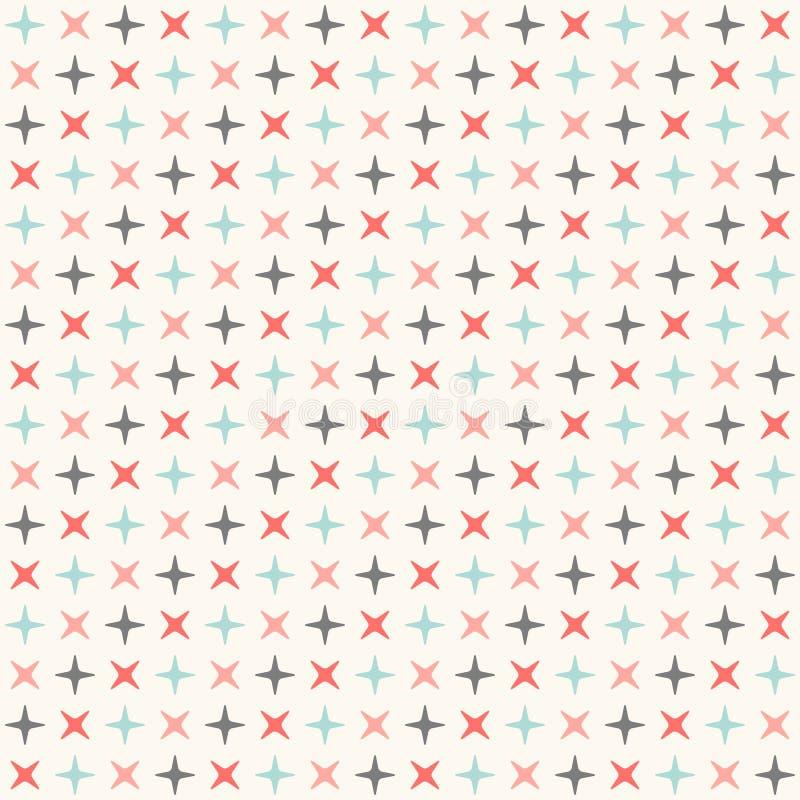 Het naadloze moderne geometrische patroon van de polkaruit stock illustratie