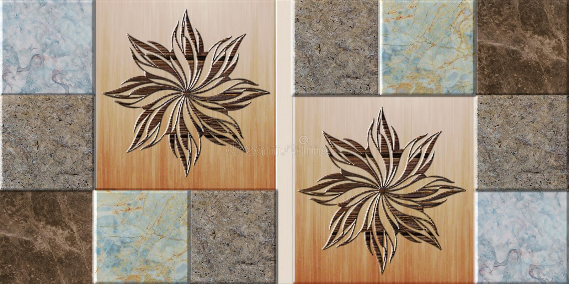 Het naadloze ontwerp van de patroontegel voor keuken, badkamers stock illustratie