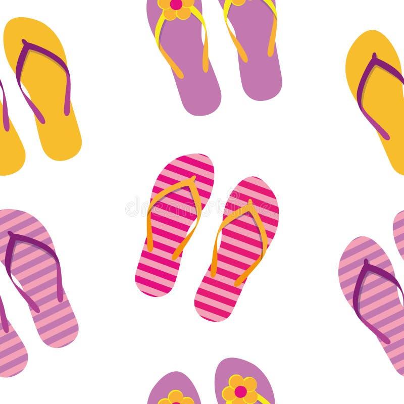 Het naadloze ontwerp van de de zomervakantie van patroon kleurrijke wipschakelaars stock illustratie