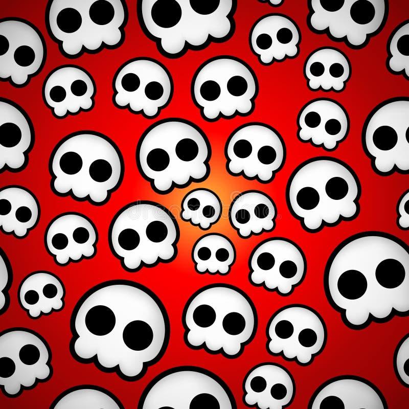 Het naadloze ontwerp van schedelemo stock illustratie